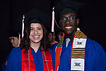 Students gather backstage Saturday, June 10, 2017, before the DePaul University School of Music and The Theatre School commencement ceremony at the Rosemont Theatre in Rosemont, IL. (DePaul University/Jeff Carrion)