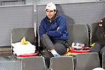 Kai Nishikori's coach Dante Bettini during Madrid Open Tennis 2016 Semifinal match.May, 7, 2016.(ALTERPHOTOS/Acero)a