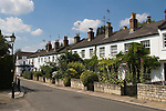 Traditional white working class terraced  cottages in Old Palace Lane, Richmond on Thames Surrey England 2007.