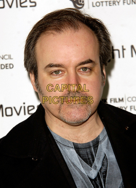 DAVID ARNOLD .Inside Arrivals - The First Light Film Awards 2010, Odeon Leicester Square, .London, England, UK,.2nd March 2010..portrait headshot black beard goatee facial hair grey gray .CAP/CJ.©Chris Joseph/Capital Pictures.