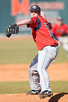 Kody Kibler #16 of the Shippensburg Red Raiders in action versus the Catawba Indians on February 14, 2010 in Salisbury, North Carolina.  Photo by Brian Westerholt / Four Seam Images