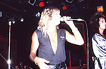 Vince Neil of Motley Crue  at The Roxy in Hollywood Aug 1986. Vince Neil& Nikki Sixx of Motley Crue  at The Roxy in Hollywood Aug 1986.