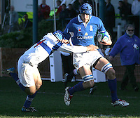 Italy's Lorenzo Puliti on his way to score against Chinese Taipei.