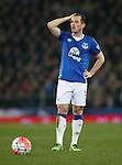 Leighton Baines of Everton during the Emirates FA Cup match at Goodison Park. Photo credit should read: Philip Oldham/Sportimage