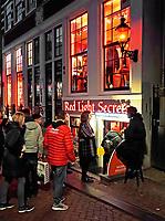 Nederland Amsterdam 2019. Red Light District. Oudezijds Achterburgwal. De Wallen. Het Red Light Secrets Museum. Foto Berlinda van Dam / Hollandse Hoogte