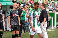 GRONINGEN - Voetbal, Open dag FC Groningen ,  seizoen 2017-2018, 06-08-2017,  FC Groningen speler Juninho Bacuna en FC Groningen speler Jesper Drost