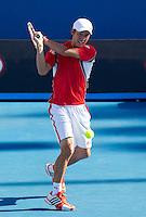 KEI NISHIKORI (JPN) against MATHEW EBDEN (AUS) in the second round of the Men's Singles. Kei Nishikori beat Mathew Ebden 3-6 1-6 6-4 6-1 6-1 ..19/01/2012, 19th January 2012, 19.01.2012..The Australian Open, Melbourne Park, Melbourne,Victoria, Australia.@AMN IMAGES, Frey, Advantage Media Network, 30, Cleveland Street, London, W1T 4JD .Tel - +44 208 947 0100..email - mfrey@advantagemedianet.com..www.amnimages.photoshelter.com.