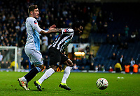 Blackburn Rovers' Joe Rothwell vies for possession with Newcastle United's Christian Atsu<br /> <br /> Photographer Alex Dodd/CameraSport<br /> <br /> Emirates FA Cup Third Round Replay - Blackburn Rovers v Newcastle United - Tuesday 15th January 2019 - Ewood Park - Blackburn<br />  <br /> World Copyright © 2019 CameraSport. All rights reserved. 43 Linden Ave. Countesthorpe. Leicester. England. LE8 5PG - Tel: +44 (0) 116 277 4147 - admin@camerasport.com - www.camerasport.com