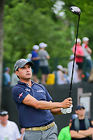 Kevin Kisner (USA) watches his tees shot on 3 during round 4 of the Dean &amp; Deluca Invitational, at The Colonial, Ft. Worth, Texas, USA. 5/28/2017.<br /> Picture: Golffile | Ken Murray<br /> <br /> <br /> All photo usage must carry mandatory copyright credit (&copy; Golffile | Ken Murray)
