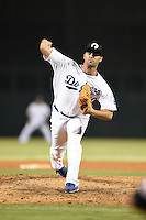 Glendale Desert Dogs pitcher Matt Magill (50) during an Arizona Fall League game against the Surprise Saguaros on October 9, 2014 at Camelback Ranch in Phoenix, Arizona.  Surprise defeated Glendale 7-4.  (Mike Janes/Four Seam Images)