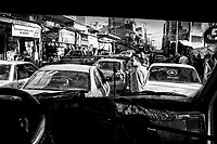 Gaza: une des rue principale du centre ville de Gaza en pleine heure de pointe. 05/11/14<br /> <br /> Gaza City: one of the main downtown street of Gaza  during rush hour. 05/11/14
