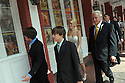 Wedding guests walk with Trina Grimes Scott and former Governor Edwin Edwards down Bourbon Street after getting married in the French Quarter in New Orleans, La., Friday, July 29, 2011. Edwards was recently released from prison where he served eight years on corruption charges.....(AP Photo/Cheryl Gerber)