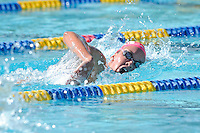 5 November 2011:  FIU's Mary Boucher competes in the 500 yard freestyle as the FIU Golden Panthers won the meet with the Florida Atlantic University Owls and Florida Southern Moccasins at the Biscayne Bay Campus Aquatics Center in Miami, Florida.