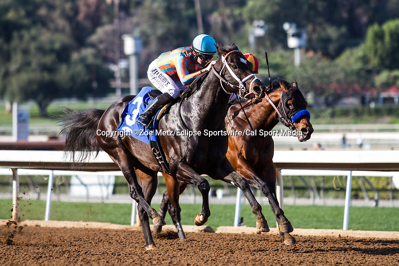 January 31, 2015: Conquest Two Step with Joe Talamo aboard win the Palos Verdes Stakes at Santa Anita Park in Arcadia, California. Zoe Metz/ESW/CSM