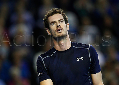 04.03.2016. Barclaycard Arena, Birmingham, England. Davis Cup Tennis World Group First Round. Great Britain versus Japan. Great Britain's Andy Murray of Great Britain during his singles match against Japan's Taro Daniel on day 1 of the tie.