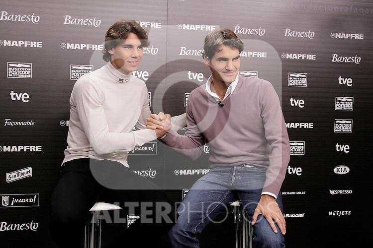 221210.MC.Rueda de Prensa Rafa Nadal-Roger Federer Partido Unidos por la Infancia..221210. Torrespaña.Madrid..©MAC/ALFAQUI