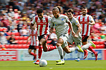 Marcus Harness of Portsmouth goes past Jordan Willis of Sunderland. Sunderland 2 Portsmouth 1, 17/08/2019. Stadium of Light, League One. Photo by Paul Thompson.