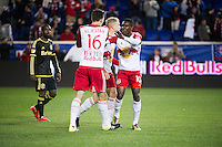 HARRISON, NJ - Saturday October 3, 2015: The New York Red Bulls defeat the Columbus Crew 3-2 at home at Red Bull Arena in regular season MLS play.