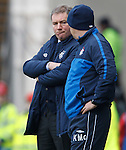 Ally McCoist frustrated rowards the end of the match