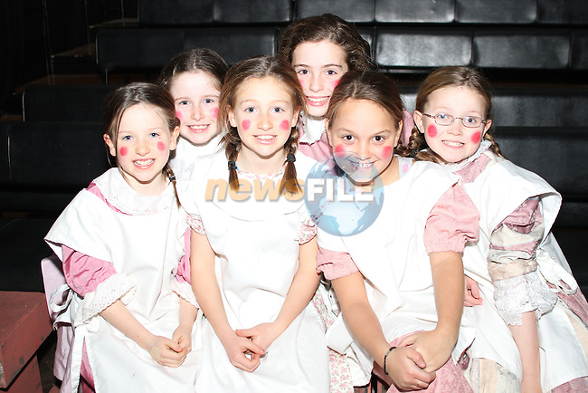 Lucy Gallen, Kerry Martin, Robyn Gallen, Alison Bailey, Emily MacQuillan and Dearbhla Mulligan at the Pinocchio Play in The Little Duke Theatre...(Photo credit should read Jenny Matthews www.newsfile.ie)....This Picture has been sent you under the conditions enclosed by:.Newsfile Ltd..The Studio,.Millmount Abbey,.Drogheda,.Co Meath..Ireland..Tel: +353(0)41-9871240.Fax: +353(0)41-9871260.GSM: +353(0)86-2500958.email: pictures@newsfile.ie.www.newsfile.ie.
