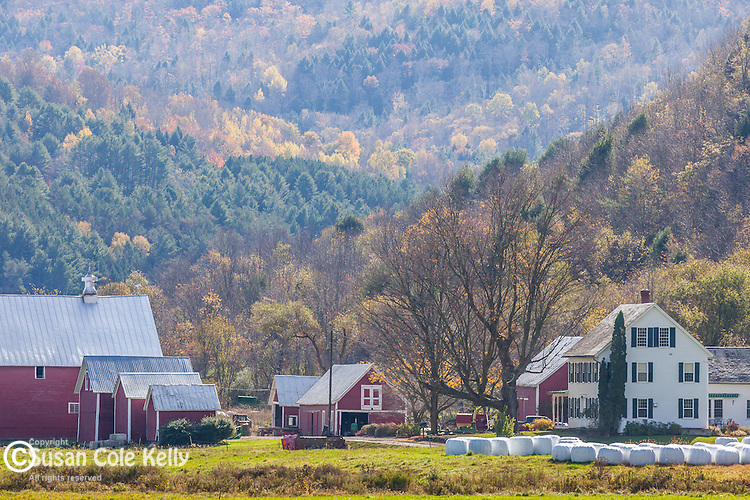 Late autumn in the Howe farms in Tunbridge, VT, USA