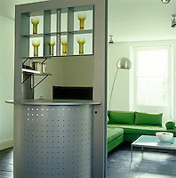 This swivelling unit by Interlubke separates the kitchen from the family room