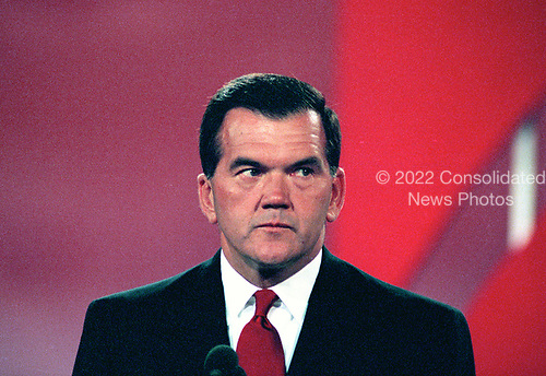 Governor Tom Ridge (Republican of Pennsylvania) speaks at the 1996 Republican National Convention at the San Diego Convention Center in San Diego, California on August 14, 1996.  <br /> Credit: Ron Sachs / CNP
