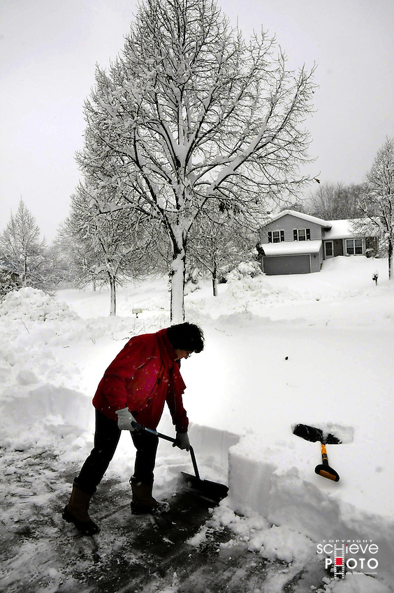 A winter blizzard in Madison, Wisconsin dumps 17 inches of snow in one day.