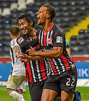 Torjubel, Goal celebration, celebrate the goal zum 3:3 durch Timothy Chandler (Eintracht Frankfurt)<br />  - 26.05.2020 Fussball 1.Bundesliga Spieltag 28, Eintracht Frankfurt  - SC Freiburg emspor, <br /> <br /> Foto: Jan Huebner/Pool/ Via Marc Schueler/Sportpics.de<br /> (DFL/DFB REGULATIONS PROHIBIT ANY USE OF PHOTOGRAPHS as IMAGE SEQUENCES and/or QUASI-VIDEO), Editorial use only. National and International News Agencies OUT