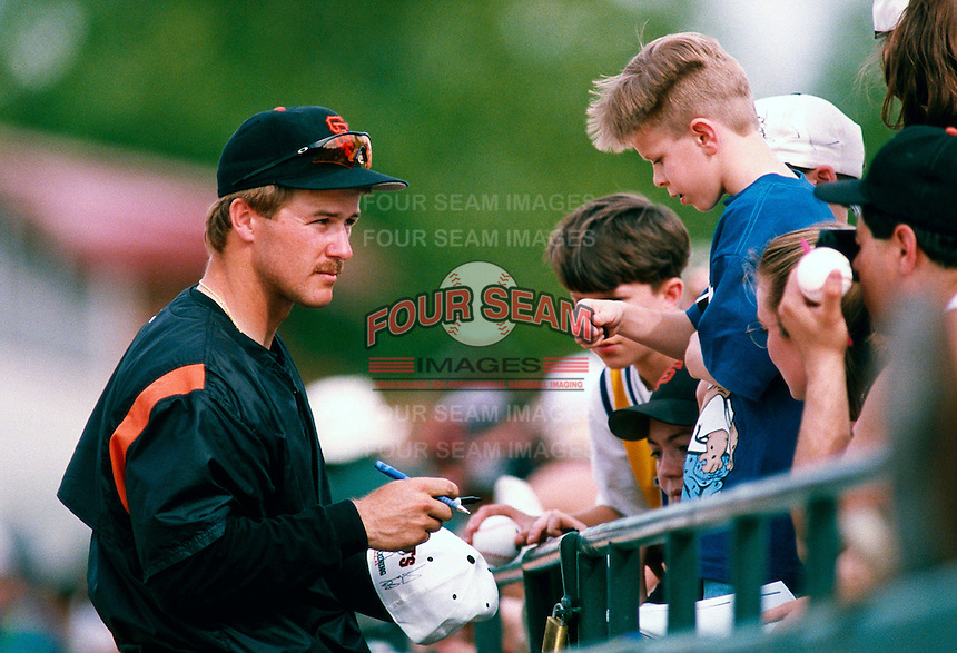 Jeff Kent of the San Francisco Giants participates in a Major League Baseball Spring Training game during the 1998 season in Phoenix, Arizona. (Larry Goren/Four Seam Images)