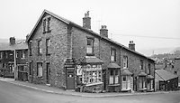 Corner shop, Todmorden, Lancashire.  1970.