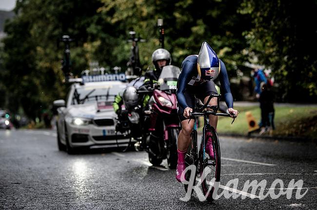 Evantual winner & new TT World Champion Chloe Dygert (USA)<br /> Elite Women Individual Time Trial<br /> <br /> 2019 Road World Championships Yorkshire (GBR)<br /> <br /> ©kramon