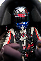 Sep 28, 2019; Madison, IL, USA; NHRA top fuel driver Steve Torrence during qualifying for the Midwest Nationals at World Wide Technology Raceway. Mandatory Credit: Mark J. Rebilas-USA TODAY Sports