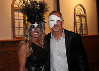 NWA Democrat-Gazette/CARIN SCHOPPMEYER Jennifer and Joe Weber attend the Junior League Masquerade on Feb. 1.