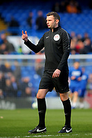 Referee Michael Oliver ahead of kick-off during Chelsea vs Wolverhampton Wanderers, Premier League Football at Stamford Bridge on 10th March 2019