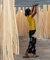 A small Noodle factory in Sagaing near Mandalay, Myanmar.