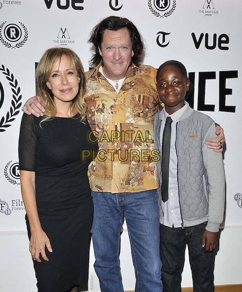 LONDON, ENGLAND - SEPTEMBER 29: Elana Krausz, Michael Madsen &amp; guest attend the &quot;The Ninth Cloud&quot; UK film premiere, Raindance film festival, Vue Piccadilly cinema, Lower Regent St., on Monday September 29, 2014 in London, England, UK. <br /> CAP/CAN<br /> &copy;Can Nguyen/Capital Pictures