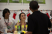United States President Barack Obama orders shave ice for friends and family at Island Snow at Kailua Beach Center on December 27, 2010 in Kailua, Hawaii.  <br /> Credit: Kent Nishimura / Pool via CNP
