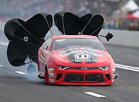 Apr 12, 2019; Baytown, TX, USA; NHRA pro mod driver Erica Enders during qualifying for the Springnationals at Houston Raceway Park. Mandatory Credit: Mark J. Rebilas-USA TODAY Sports