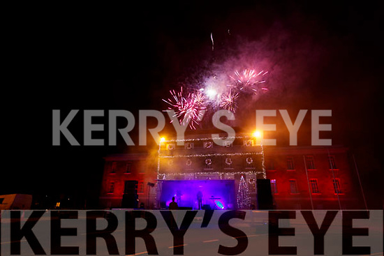 New year's eve fireworks display in Tralee.