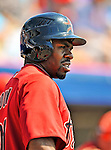 7 March 2011: Houston Astros' outfielder Michael Bourn stands on deck during a Spring Training game against the Washington Nationals at Space Coast Stadium in Viera, Florida. The Nationals defeated the Astros 14-9 in Grapefruit League action. Mandatory Credit: Ed Wolfstein Photo