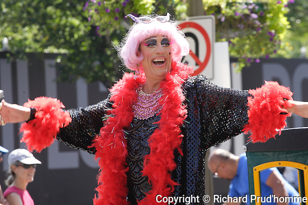 Montreal's famous Mado participates in the Pride Parade