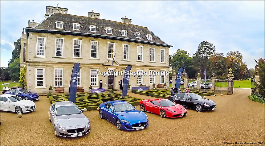 Photo by ©Stephen Daniels  04/10/2014<br /> Maserati at Stapleford Hall, Nr Melton Mowbray, Leicestershire <br /> <br /> All images supplied under the terms and condition of Stephen Daniels and not publication which use them. All images which is the copyright of Stephen Daniels and/or Air Imaging are supplied under the terms and condition of Stephen Daniels