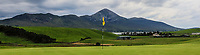 Croagh Patrick behind the 16th green during the Preview of the AIG Cups & Shields Connacht Finals 2019 in Wesport Golf Club, Westport, Co. Mayo on Thursday 8th August 2019.<br />