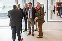 Mitglieder der Fraktion der rechtsnationalistischen &quot;Alternative fuer Deutschland&quot; vor der Fraktionssitzung am Dienstag den 17. April 2018.<br /> Im Bild vlnr.: Peter Felser und Leif-Erik Holm, beide stellvertretende Fraktionsvorsitzende; Juergen Braun, Parlamentarischer Geschaeftsfuehrer; Alexander Gauland, Partei- und Fraktionsvorsitzender.<br /> 17.4.2018, Berlin<br /> Copyright: Christian-Ditsch.de<br /> [Inhaltsveraendernde Manipulation des Fotos nur nach ausdruecklicher Genehmigung des Fotografen. Vereinbarungen ueber Abtretung von Persoenlichkeitsrechten/Model Release der abgebildeten Person/Personen liegen nicht vor. NO MODEL RELEASE! Nur fuer Redaktionelle Zwecke. Don't publish without copyright Christian-Ditsch.de, Veroeffentlichung nur mit Fotografennennung, sowie gegen Honorar, MwSt. und Beleg. Konto: I N G - D i B a, IBAN DE58500105175400192269, BIC INGDDEFFXXX, Kontakt: post@christian-ditsch.de<br /> Bei der Bearbeitung der Dateiinformationen darf die Urheberkennzeichnung in den EXIF- und  IPTC-Daten nicht entfernt werden, diese sind in digitalen Medien nach &sect;95c UrhG rechtlich geschuetzt. Der Urhebervermerk wird gemaess &sect;13 UrhG verlangt.]