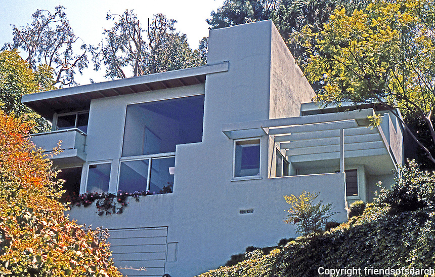 Rudolph Schindler: Droste House, 2024 Kenilworth, Silver Lake. 1940.