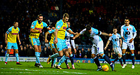 Blackburn Rovers' Adam Armstrong shoots at goal in the closing stages<br /> <br /> Photographer Alex Dodd/CameraSport<br /> <br /> The EFL Sky Bet Championship - Blackburn Rovers v Rotherham United - Saturday 10th November 2018 - Ewood Park - Blackburn<br /> <br /> World Copyright &copy; 2018 CameraSport. All rights reserved. 43 Linden Ave. Countesthorpe. Leicester. England. LE8 5PG - Tel: +44 (0) 116 277 4147 - admin@camerasport.com - www.camerasport.com