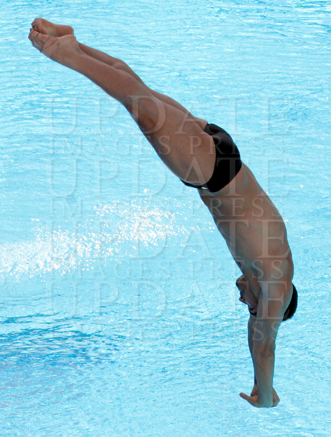 Canada's Alexandre Despatie competes in the men's 3m springboard diving finals at the Swimming World Championships in Rome, 23 July 2009..UPDATE IMAGES PRESS/Riccardo De Luca