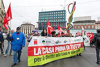 Manifestazione per il diritto alla casa indetta dai sindacati inquilini. Milano, 23 novembre, 2013<br /> <br /> Demonstration for housing rights organized by tenants' unions. Milan, November 23, 2013