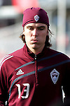 20 November 2010:  Ross Schunk (13) of the Colorado Rapids.Colorado Rapids held a practice at BMO Field, Toronto, Ontario, Canada as part of their preparations for MLS Cup 2010, Major League Soccer's championship game.